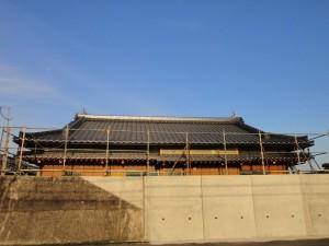 和風瓦(和型、陶器瓦)を使用した屋根